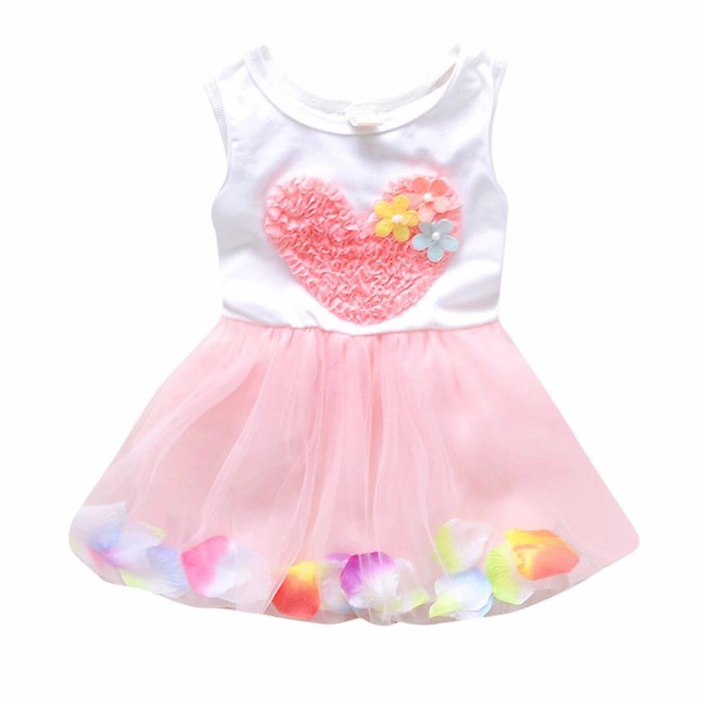 2017 summer kid girls princess dress toddler baby wedding for Baby dresses for weddings