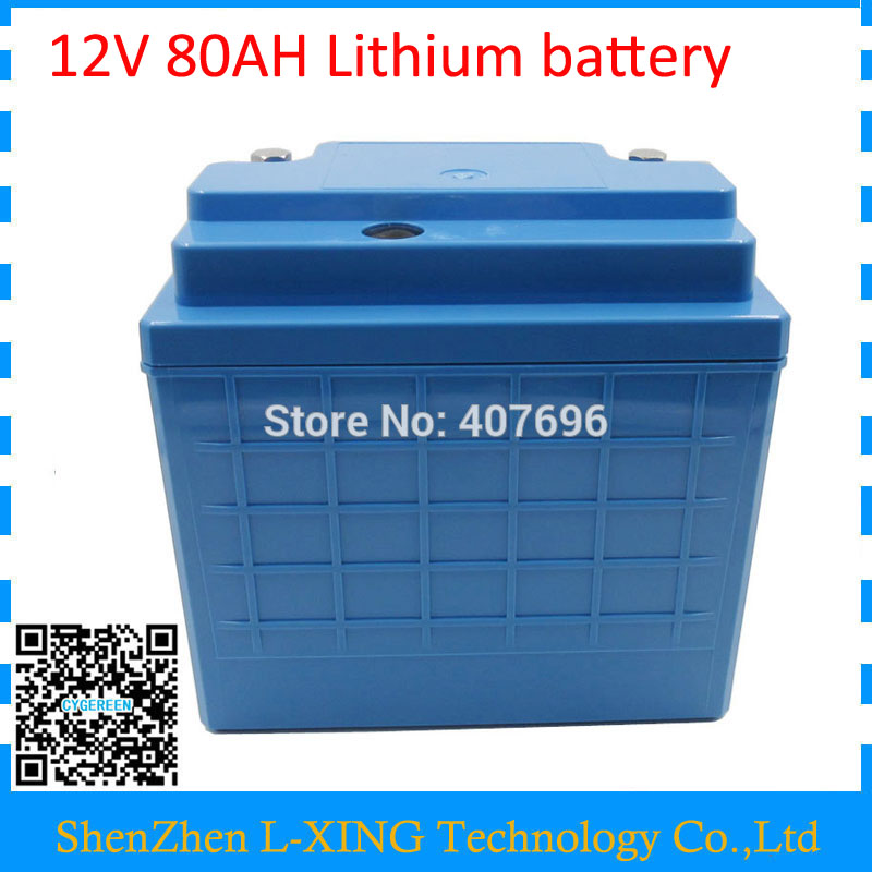 Free customs fee lithium battery 12V 350W 12V 80AH battery 12 V 80000MAH battery pack use 5000mah 26650 cells with 5A Charger free customs taxes and shipping balance scooter home solar system lithium rechargable lifepo4 battery pack 12v 100ah with bms