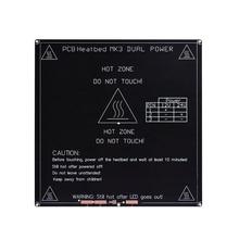 RepRap 3D-принтер части алюминиевый MK3 heatкровать+ светодиодный+ резистор+ кабель+ 100K Ом термисторы диаметр как MK2B 3D-принтер часть