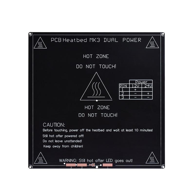 Peças de Impressora 3D RepRap MK3 Heatbed Alumínio + LED + Resistor + cabo + 100 K ohm Termistores Diâmetro Como MK2B impressora 3D parte