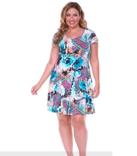 Female Summer Chiffon Dresses 2015 Plus Size Women