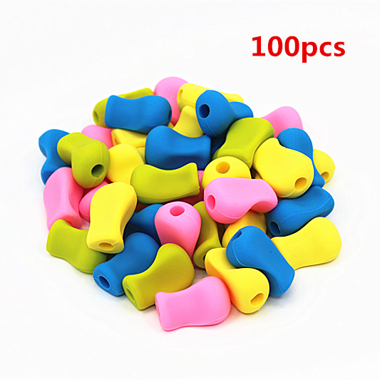 100pcs/set Factory wholesale pen Pencil Grip Kids Children School Stationery Right Handed Silicone Writing Handwriting Aid