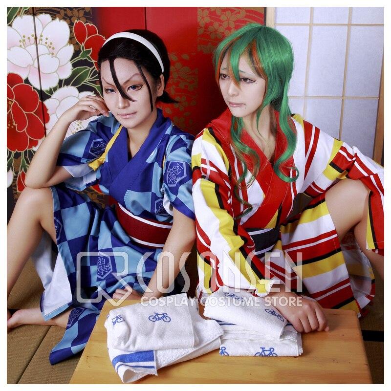 COSPLAYONSEN Yowamushi Pedal Sohoku High School Hakone Academy Hot Spring Bath Robe Cosplay Costume All Size