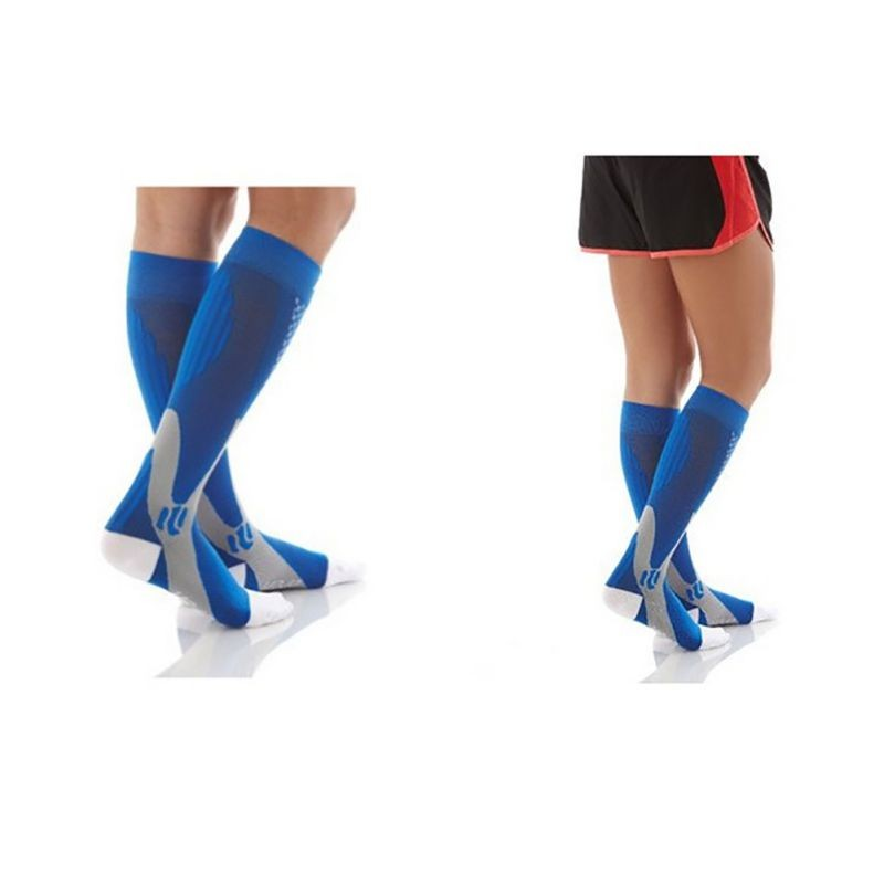 HTB1 IL0XRKw3KVjSZFOq6yrDVXaE - Men Women Leg Support Stretch Compression Socks Below Knee Socks