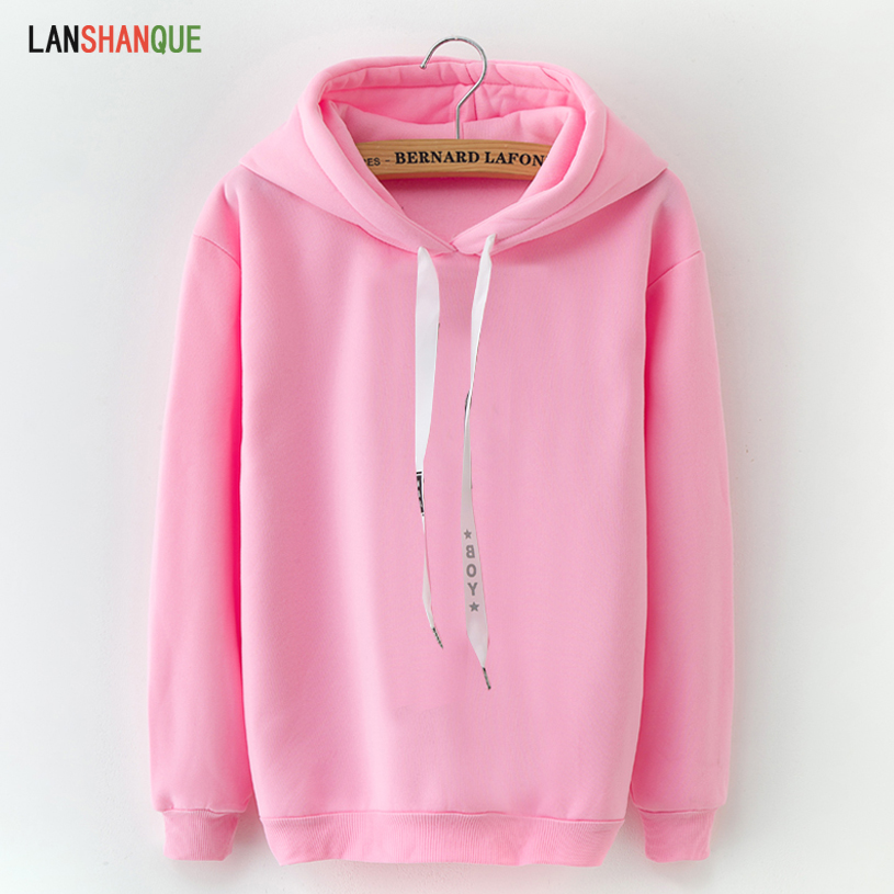 YUNY Womens Relaxed-Fit Autumn Hooded Solid Active Vogue Sweatshirt Pink L