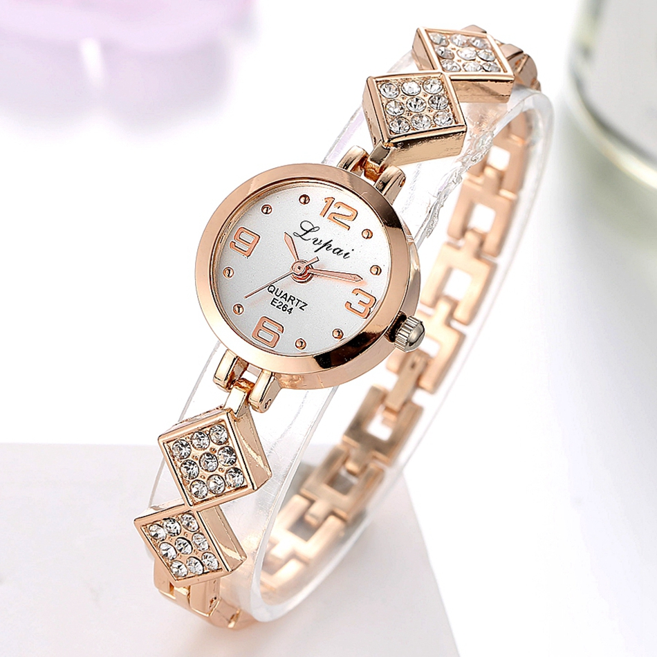 Lvpai Brand Luxury Women Watch Fashion Bracelet For Ladies Dress Quartz Watches Casual Crystal Rose Dial Sport WristWatch LP086 fashion casual rose gold sport watch women quartz watch lvpai brand luxury bracelet watches alloy dress ladies female wristwatch