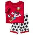 Meninos pijamas de verão se adapte às crianças conjuntos de roupas de futebol da copa do mundo brasil crianças sleepwear bebê pijamas bebe roupa parte inferior casa