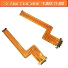 Cargador USB puerto Flex Cable genuino Para Asus Transformer TF300 TF300T Fecha Conector de Carga Conector Dock Flex Cable repuesto