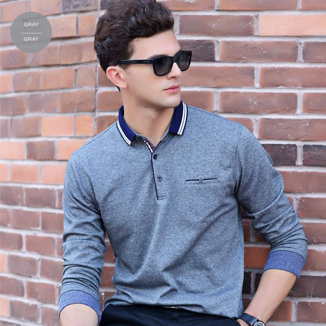 Men Shirt Camisas Stylish Casual Polo Home Shirt Long Sleeve Fashion ...