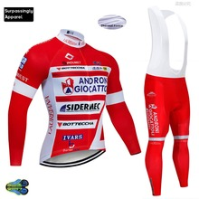 Winter ANDRONI Cycling Jersey Long Sleeve Sets Breathable Pro Team Ropa Ciclismo Bike Wear Cycling Clothing Bicycle Sportswear 2017 xintown long sleeve bicycle wear cycling jersey sets ropa ciclismo racing wicking sportswear men outdoor pro team clothing