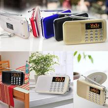 Portable Mini Stereo LCD Digital FM Radio Speaker with LED Light and Rechargeable Battery Support USB TF Card Mp3 Music PlayerUM