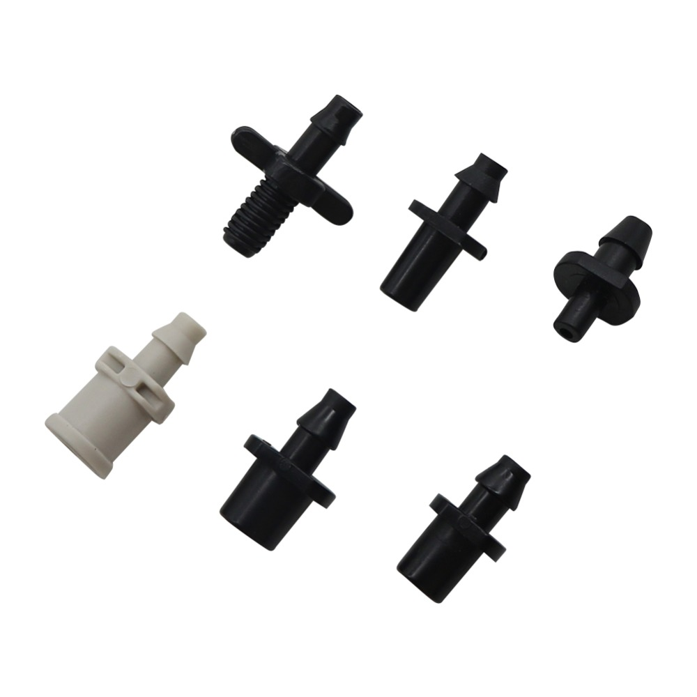 4mm Barbed Straight Connector Hose Quick Connectors Irrigation Plumbing Pipe Fittings Nozzle Adapter 20 Pcs