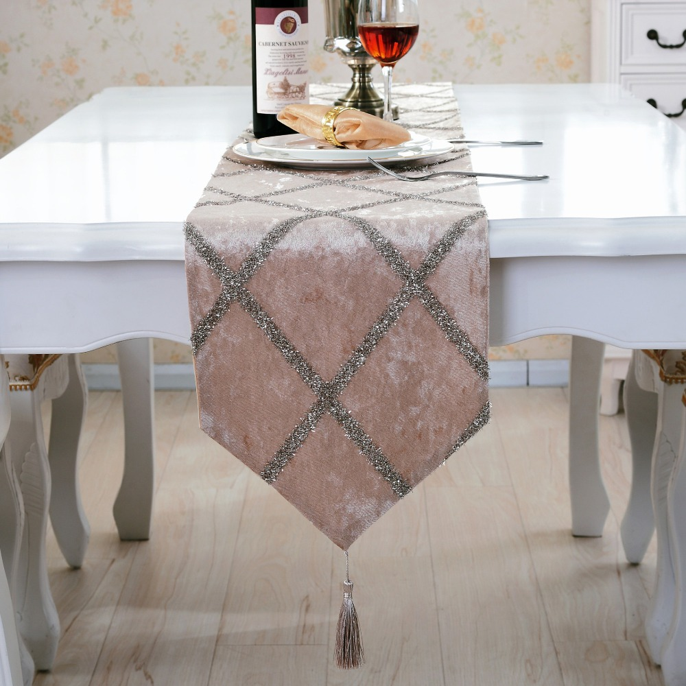 Europe Table Runners Modern Chemin De Table Table Runners For Wedding Party Camino De Mesa Tafelloper Tablecloth Bed Flag Home