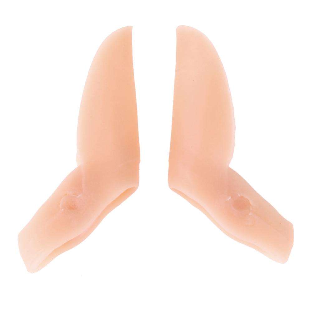 Schuhzubehör Orthopädische 2 Löcher Socken Schmerzen Relief Anti Slip Daumen Separator Zehen Einsätze Vorfuß Pad Kissen Valgus Gummi Schutz Reisen