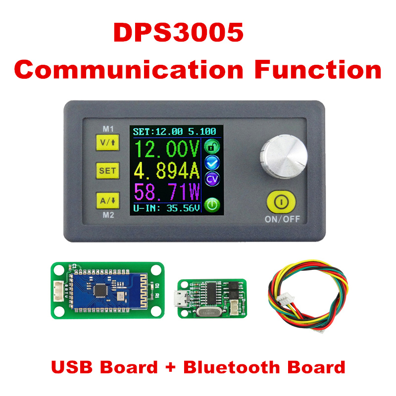 LCD converter Step-down Voltage current meter DPS3005 Communication Function Regulator Module Buck Voltmeter Ammeter 40% off constant digital voltage current meter step down dp50v2a voltage regulator supply module buck color lcd display converter