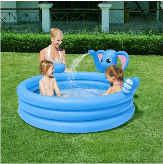 152 152 74cm large inflatable swimming pool kids pools for Plastik pool rund