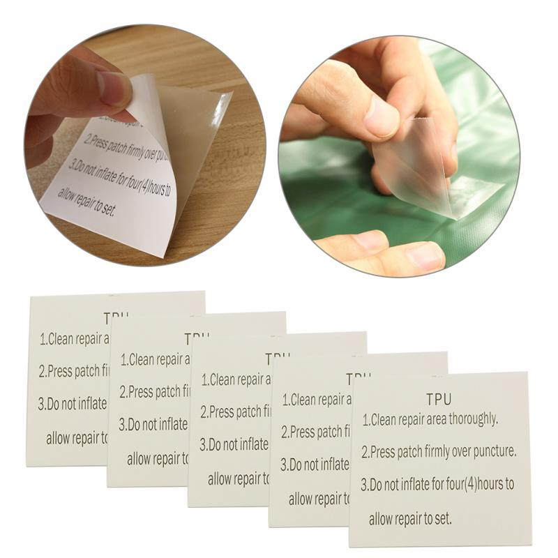 5Pcs TPU Translucent Life Ring Tent Repair Paste Glass Inflatable Boat Portable Outdoor Camping Self Adhesive Waterproof Patch in Tent Accessories from Sports Entertainment