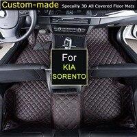 Для Kia Sorento 2004 ~ 2008/2009 2012/2013 2014/2015 ~ Коврики пользовательские ковры автомобиль стиль настроены специально