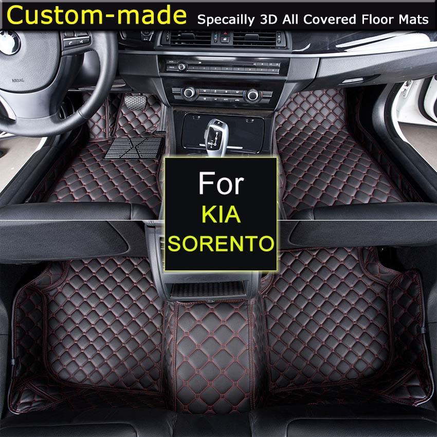 все цены на For KIA Sorento 2004~2008 / 2009~2012 / 2013~2014 / 2015~ Car Floor Mats Custom Carpets Car Styling Customized Specially Made онлайн