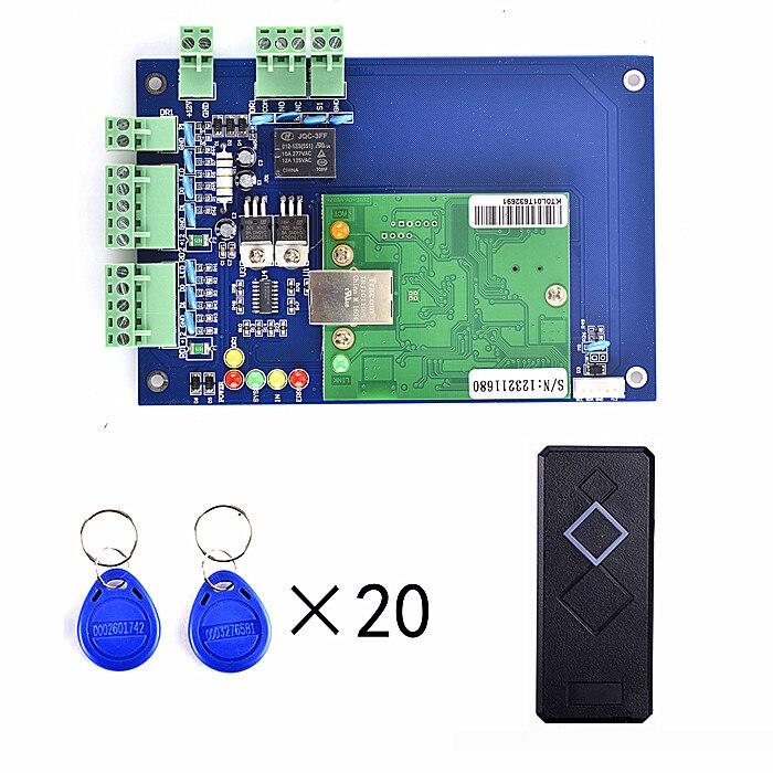 все цены на 20Pcs RFID Card+Free English Software+RFID Access Control Board TCP/IP+1 Pieces Card Reader онлайн