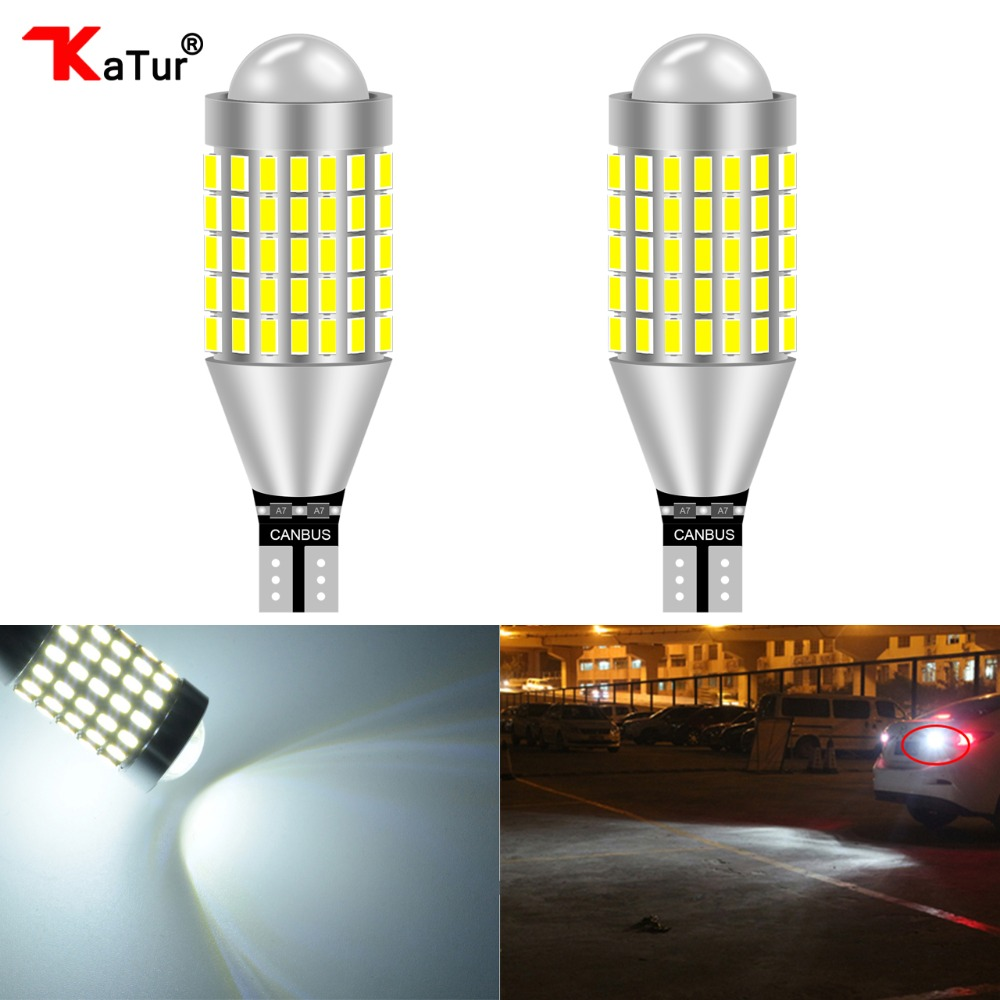 2x W16W T15 955 921 Reverse Tail Brake Stop Fog Parking light Super White bulbs