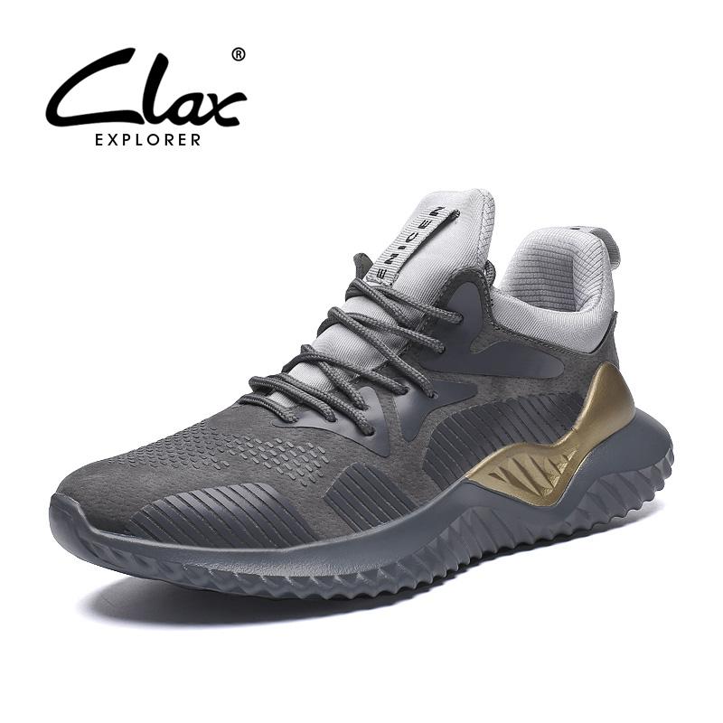 CLAX Mens Sneakers Fashion 2019 Spring Autumn Casual Shoe Male Designer trainers Man Walking Footwear Soft Comfortable Big Size tênis masculino lançamento 2019