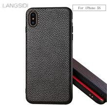 wangcangli brand phone case Litchi grain full-wrapped For iphone 5s full handmade custom processing