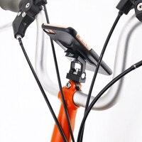 Spor ve Eğlence'ten Bisiklet Gidonu'de Bisiklet cep telefonu dağı tutucu bisiklet aksesuarları için Brompton evrensel