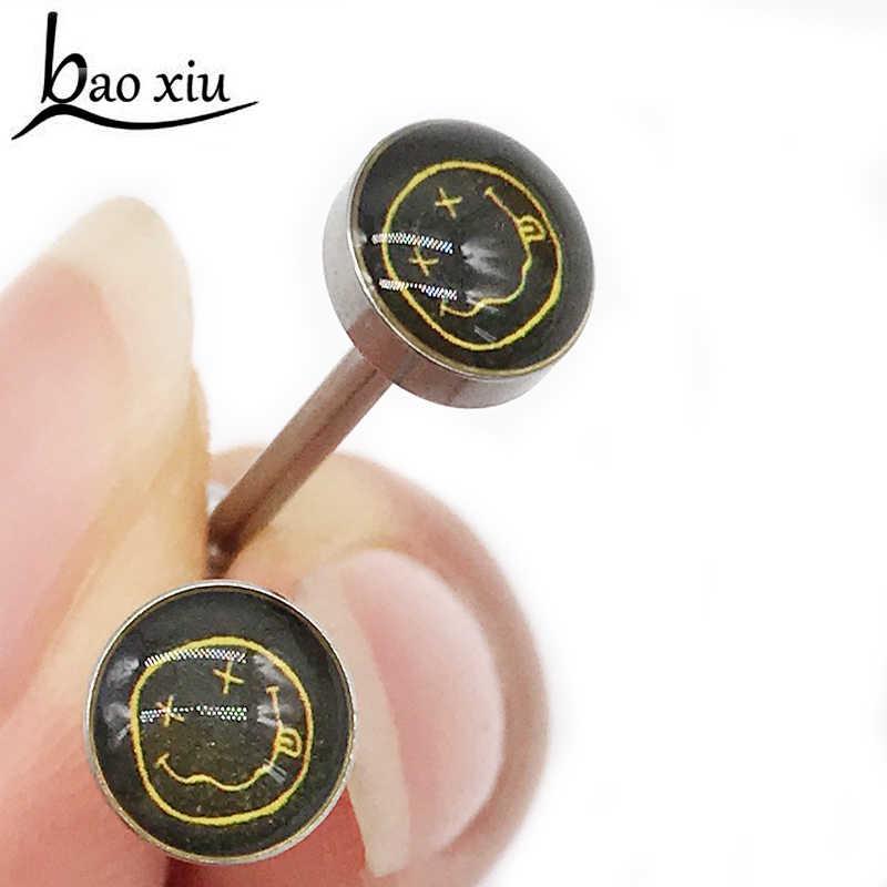 1 Pcs 16 Mm Stainless Steel Belly Button Cincin Anting-Anting Emas Hitam Rainbow Barbel Tragus Telinga Perhiasan Tindik Tubuh