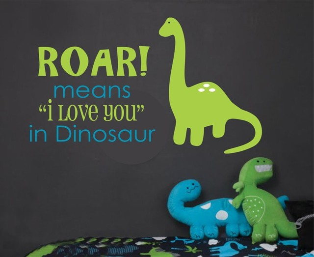 48e1859f8 Roar means I love you - Dinosaur Wall Decal - Kids Room Wall Decal Vinyl  Wall Stickers -You choose two colors