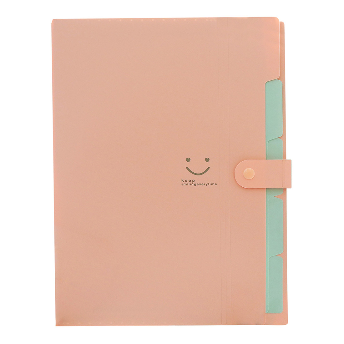Kawaii FoldersStationery Carpeta File Folder 5layers Archivadores Rings A4 Document Bag Office Carpetas (Pink)