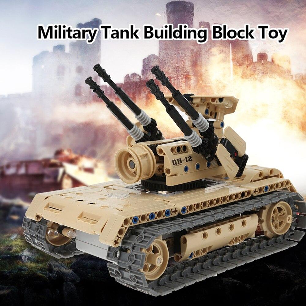 Remote Controll Military Tank Building Block Toy 457pcs RC Tank Unassembled Kit цена 2017