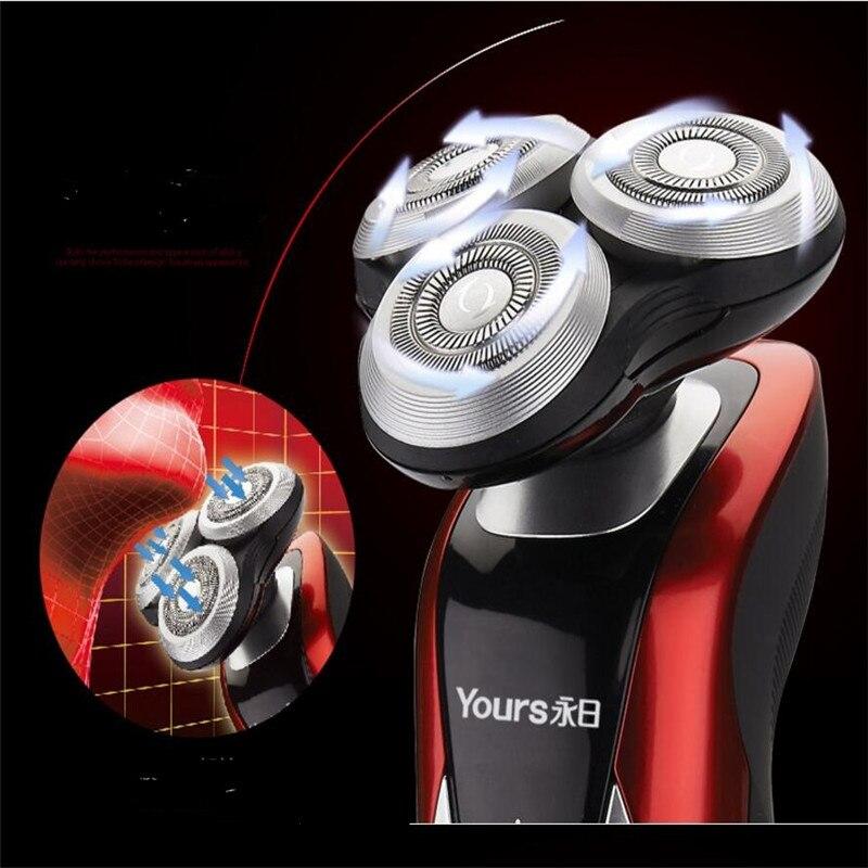 Lavable électrique rechargeable rasoir rasoir homme toilettage rasage tondeuse à barbe 3D flottant visage coupe de cheveux machine rasage