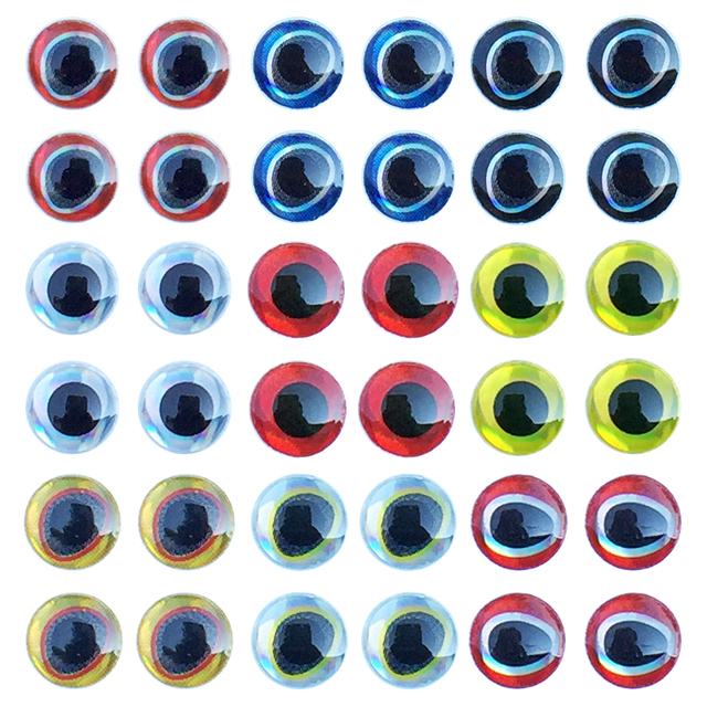 Special Offers Fishing Lure Eyes 183pcs/set 3D Simulation Water Drop Fly Fishing Artificial Bait Fish Eyes Mixed Color 3mm/4mm/5mm/6mm
