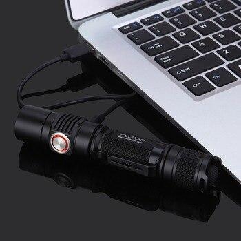 VOLLSION MR12 CREE XP-L2 Cep Boyutlu USB Şarj Edilebilir Ve Deşarj Taktik El Feneri Alüminyum 1180 Lümen