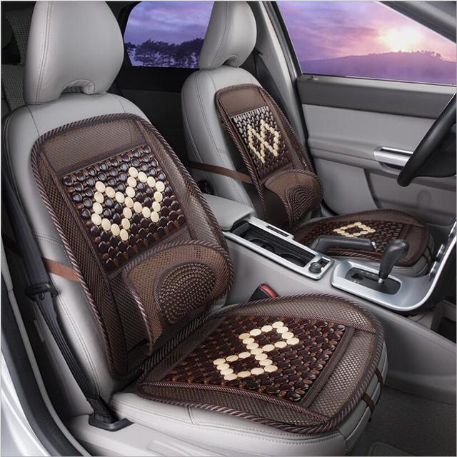 2018 new style wood bead car seat cushion Wooden beads chair art massage cushion car seat cushion Car Accessories styling