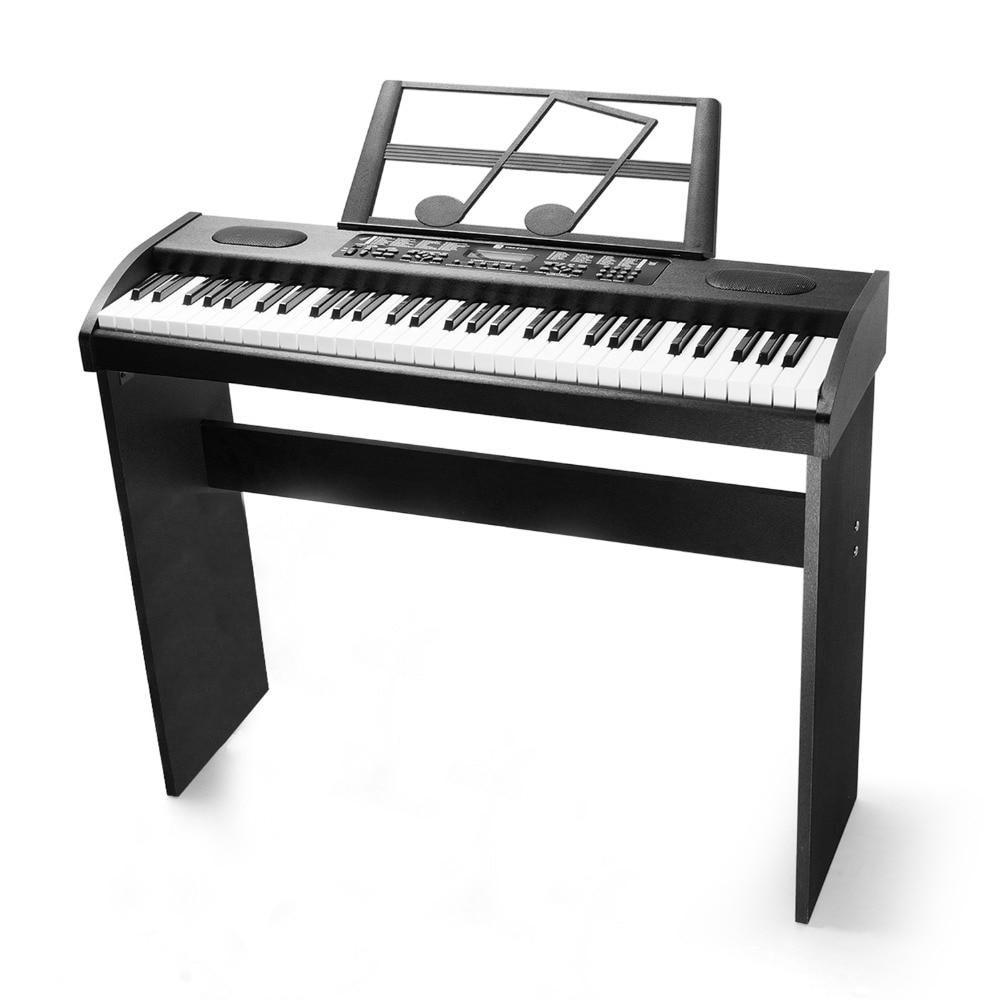 Vangoa VGK6100 61-Touche Piano Électronique Clavier avec Support, Écran LCD Musique, Noir