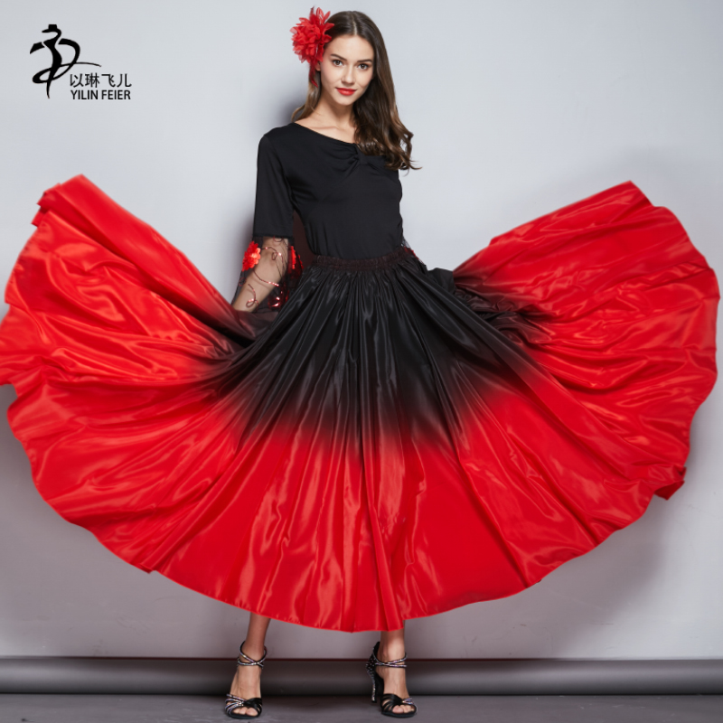 Flamenco Dance Skirt Gypsy Skirt Robe Flamengo Enfant Spanish Dance Costumes
