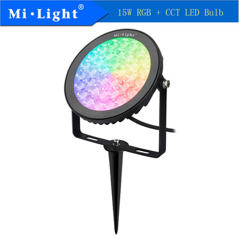 Mi Light FUTC03 15W RGB+CCT LED Garden Lamp 50/60Hz Led Bulb 2.4GHZ Wireless Remote Control Smartphone APP Control  AC100-240V