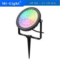 Mi Light FUTC03 15W RGB+CCT LED Garden Lamp 50/60Hz Led Bulb 2.4GHZ Wireless Remote Control Smartphone APP Control AC100 240V