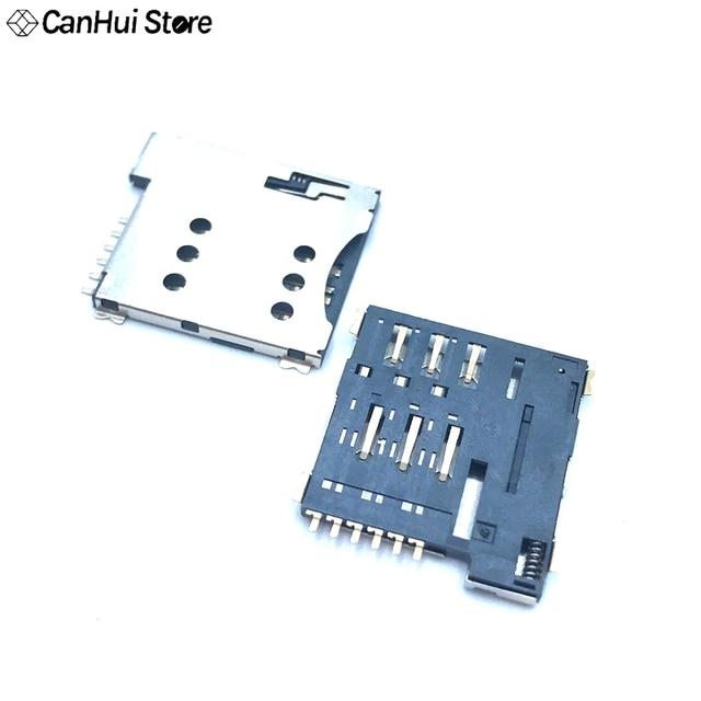 10 cái khe cắm thẻ SIM Micro SIM 6 p 6-Pin Bộ Nhớ thẻ Giữ bộ chuyển đổi kết nối sử dụng cho điện thoại tự đẩy Loại