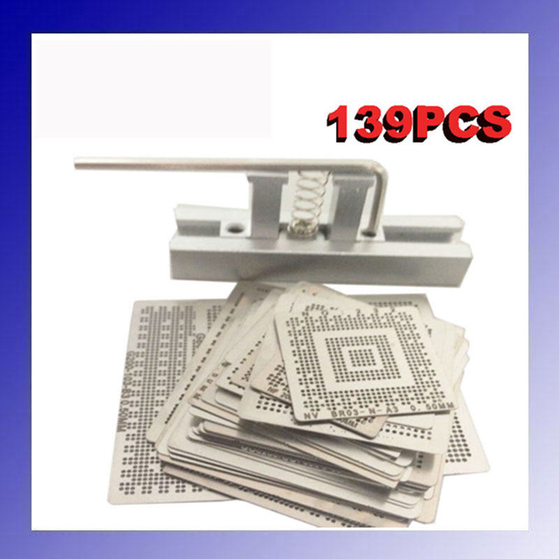 for Laptop 139 pcs /set Bga Reballing Stencil Template Kit latest laptop xbox ps3 bga 170pcs template bga kit 90mm for chip reballing