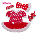 Polka dot baby girl dress algodón shortsleeve mono lindo bebé niñas ropa vestido infantil kids dress nueva llegada f1060