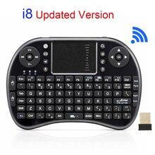 Оригинальный i8 Перезаряжаемые мини Беспроводной Клавиатура 2.4 ГГц Русский Английский Версия Сенсорная панель Ручной Air Mouse для Android TV ноутбука