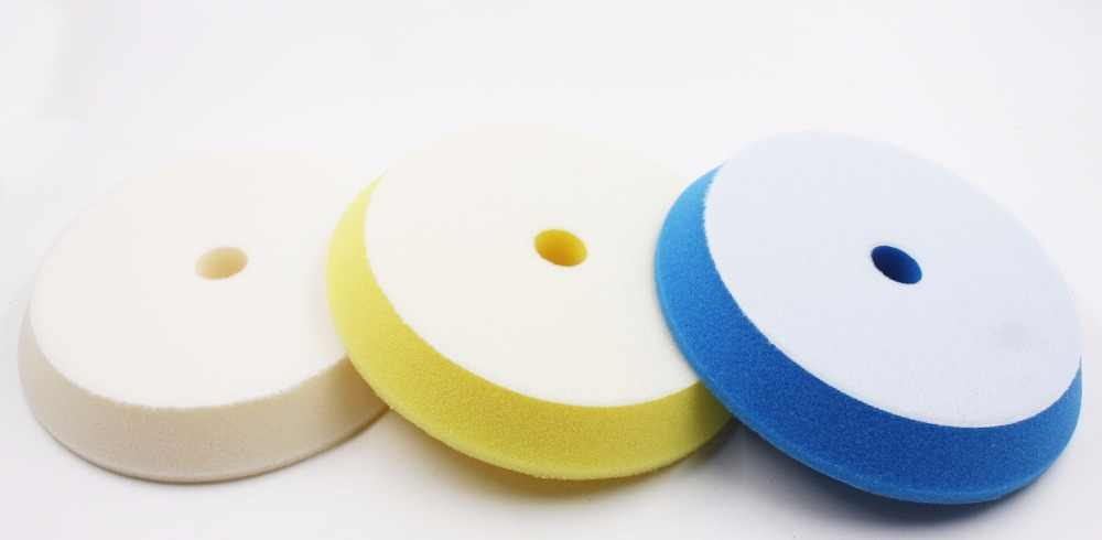 6'(150-180mm)Rupees style German material solf puffing polish foam pad 1lot/3pcs(1compounding cutting/1polishing pad/1finishing