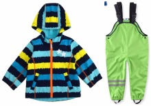 Rainproof and windproof warm boys girls spring autumn set childrens jackets trousers