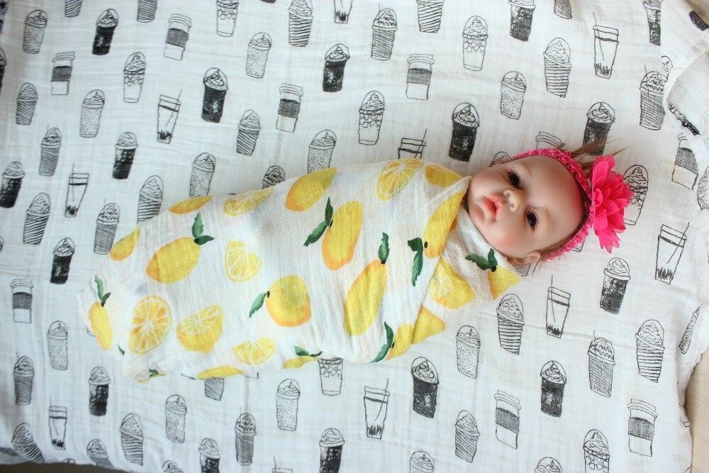Baby Baby Swaddle Goede Ademend Pasgeboren Mousseline Deken & - Beddegoed - Foto 1