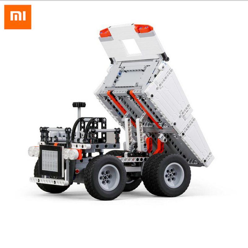 New Xiaomi Mitu Block Robot Mine Truck Toys For 6 Years Old Children Steering Wheel Control