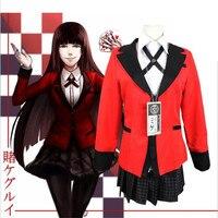Japanese Anime Kakegurui Jabami Yumeko Cosplay Costume Adult Girls Pajamas Free Shipping