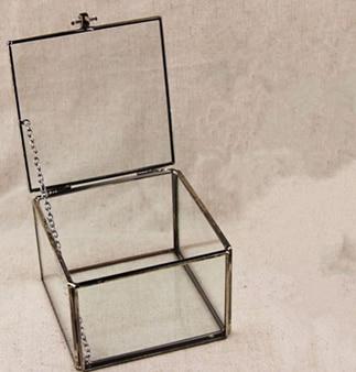 Mimi Geometric Glass Terrarium / Cube / Handmade Glass Plant Terrarium / Modern Planter for Indoor Gardening Decoration